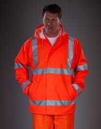 Hi-Vis Soft Flex Breathable Rain Jacket